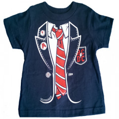 ACDC Baby T-shirt Red Tie