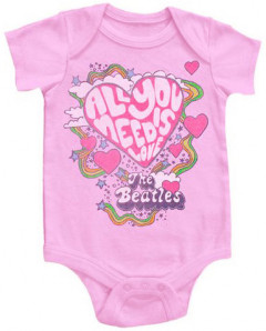 Beatles body baby rock metal All You Need Is Love Pink