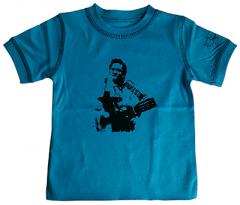 Johnny Cash Kids T-shirt Blue