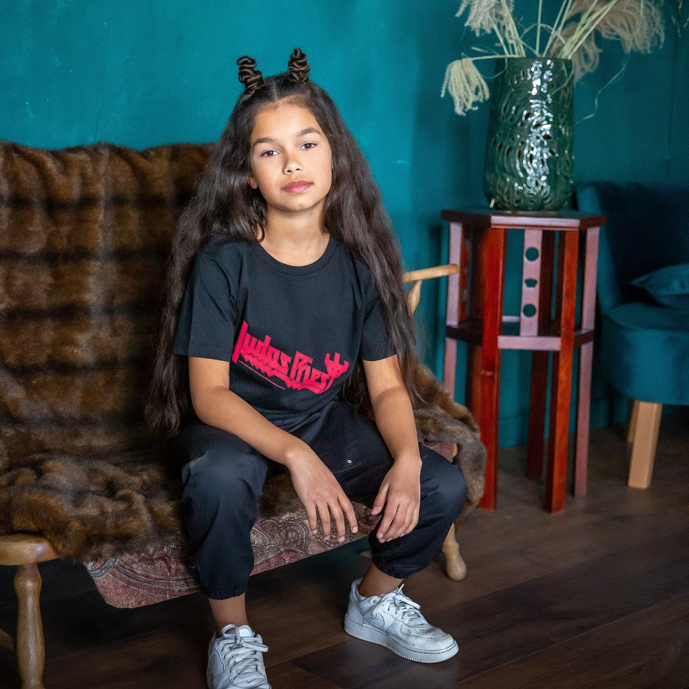 Judas Priest Kinder T-shirt Logo fotoshoot