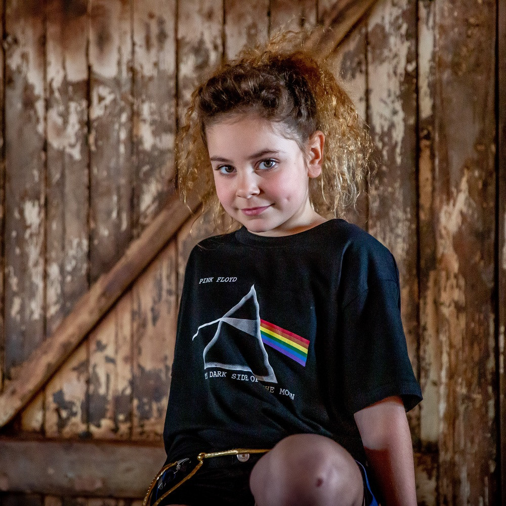 Pink Floyd kinder T-shirt Dark Side of The Moon fotoshoot