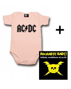 AC/DC Baby Body Logo Pink & AC/DC CD