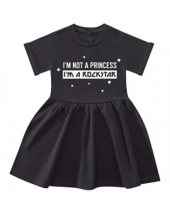 I'm not a princess I'm a rockstar Baby Kleid