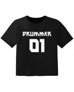 Rock Baby Shirt drummer 01