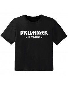 Rock Kinder T-Shirt drummer in training